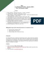 Programa Ética SUAFyL, 2018-1