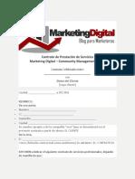 Contrato de Prestación de Servicios Marketing Digital