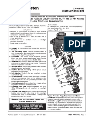 Instruction Sheet Appleton Powertite Series Pin Sleeve Plugs Connectors Receptacles 330086 En Us 178160 Pdf Electrical Connector Screw