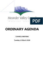 Meander Valley Council March meeting