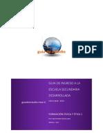 Guia de Ingreso a La Secundaria Formacion Civica y Etica 1 2018