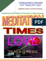 Meditation Times February 2010