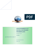 Guia de Ingreso a La Secundaria Español 1 - 2018