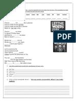 Words Song Worksheet Hawk Nelson Activities With Music Songs Nursery Rhymes 105624