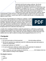 Certification Inservice Requirements for Florida - From Professional Teaching Guide 2015