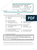 Teste 8º D - 1º