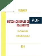 Métodos Generales de Análisis de Alimentos