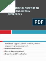 Unit 4 - Institutional Support to Small and Medium Enterprises