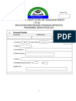 Certificate March Intake App Form