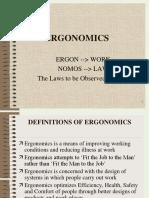 1.0 Introduction to Ergonomics