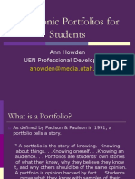 Electronic Portfolios for Students