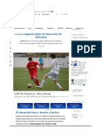 El Desarrollo Del Futbolista