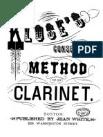 Metodo Completo Kloser Para Clarinete