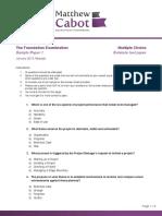 MCPM Question Sheets V1