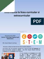 Informatica La Liceu-curricular Si Extracurricular