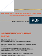 AULA 04 - ANÁLISE DE RISCO  E SUA INFLUÊNCIA NAS TOPOLOGIAS DAS REDES DE COMPUTADORES