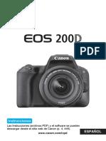 EOS 200D Instruction Manual ES