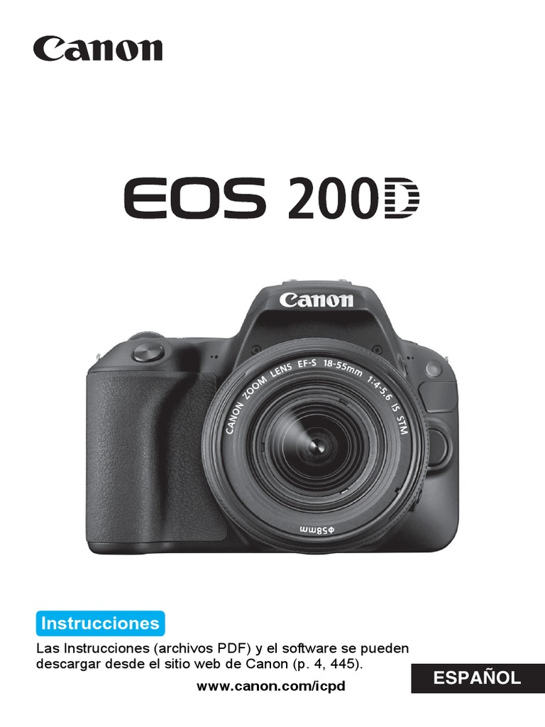 EOS 200D Instruction Manual ES