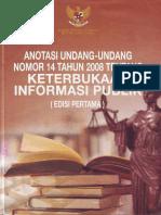 Anotasi Undang-Undang Nomor 14 Tahun 2008 tentang Keterbukaan Informasi Publik