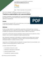 Trastorno Esquizotípico de La Personalidad_ MedlinePlus Enciclopedia Médica