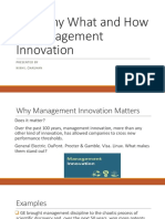 The Why What and How of Management Innovation