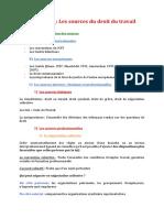 01- Sources Du Droit Du Travail