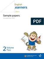 Exame Cambridge Young Learners Sample Papers 2018 Vol2