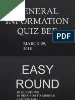 Gen Info Quiz Bee
