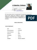 Cv - Julian Cajavilca