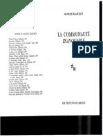 04 La Communauté Des Amants (BLANCHOT)