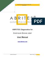 Abrites Diagnostics for Chrysler Dodge Jeep User Manual2.2