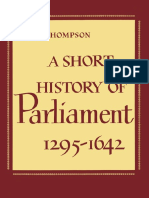 Short History of Parliament, 1295-1642