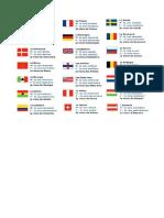 Les Nationalites Liste de Vocabulaire 59497