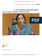 'Rhetoric of a Loser'_ BJP's Nirmala Sitharaman Blasts Rahul Gandhi's Plenary Session Remark
