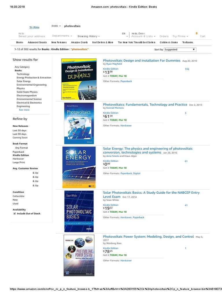 Kitaplar Ilk 2 Sayfa | Books | Photovoltaics