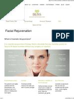 Bliss Acupuncture Clinic – Facial Rejuvenation