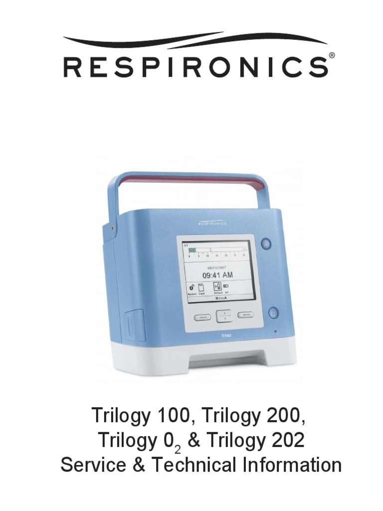 Respironics Trilogy Service Manual | Electromagnetic Compatibility |  Electrostatic Discharge