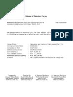 Release of Retention Money