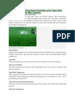 Cara Menghitung Dosis Pestisida Yang Tepat Agar Hama Dan Penyakit Mati Seketika