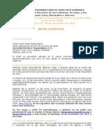 Nota Logística. ESP. Reunion Expertxs. PP. Bogot A