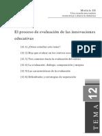 Tema12 El Proceso de Evaluacion de Las Innovaciones Educativas