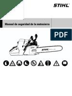 2009 Manual de Seguridad de La Motosierra - Stihl