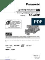 Manual panasonic agac8 pj