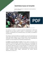 El Pueblo Afroboliviano Busca La Inclusión Política
