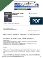 Cuadernos de cirugía (Valdivia) - Cáncer de mama Modalidades terapéuticas y marcadores tumorales.pdf