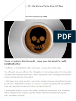 The Coffee Deception_ 13 Little Known Facts About Coffee