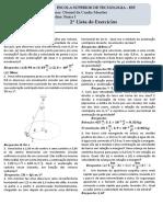 2.º Lista de Física 1