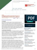 ConJur - José Sousa_ O Efeito Do Regime de Recuperação Fiscal Nos Concursos