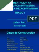 Proceso Constructivo Pavimentación Av. Pakamuros (Sesión 07)
