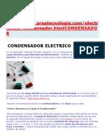 Condensador Electrico